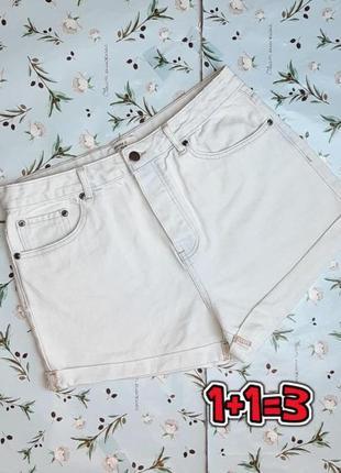 🎁1+1=3 фирменные джинсовые шорты высокая посадка forever 21, размер 46 - 48