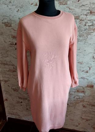 Трикотажное платье двуниткас карманами
