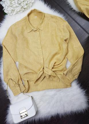 Льняная рубашка от m&s