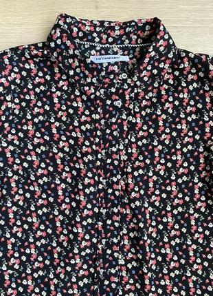 Блуза чёрная в мелкий цветок