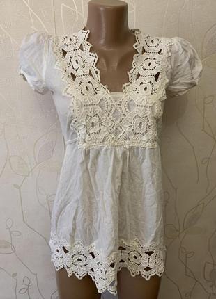 Блуза с кружевом распродажа лето