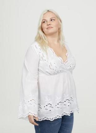 Новая легкая хлопковая блуза h&m, большой размер. размер 52