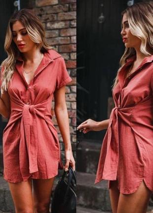 Новое!платье рубашка хлопок размер 42-44, с ка