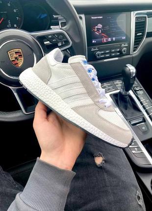 Шикарные кроссовки унисекс adidas marathon white наложка