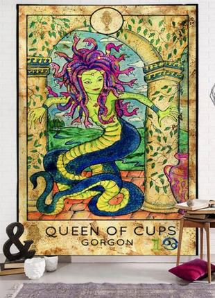 Картина-гобелен настенный таро королева кубков