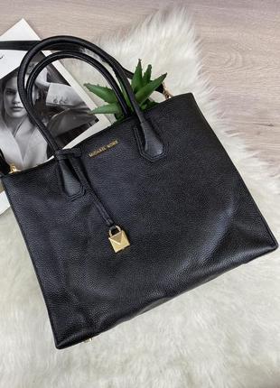 Оригинальная  кожаная сумка-тоут michael kors mercer leather
