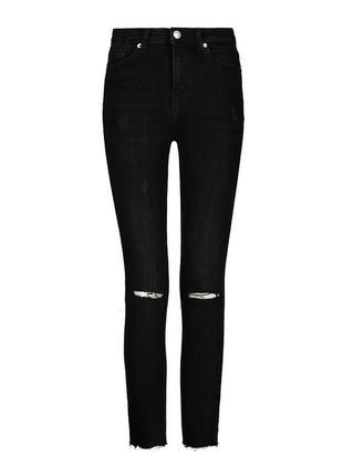 Крутые потрепаные рваные джинсы с высокой посадкой от tally weijl из денима 1+1=3 на всё 🎁