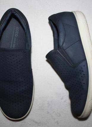 Кожаные туфли мокасины фирмы ecco 36 размера по стельке 23,5 см.