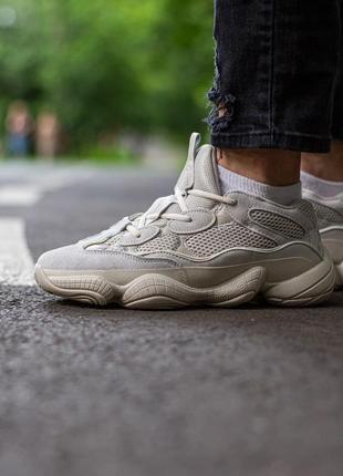 Шикарные кроссовки унисекс adidas yeezy boost 500 blush наложка