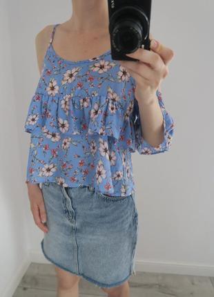Блуза топ в цветы