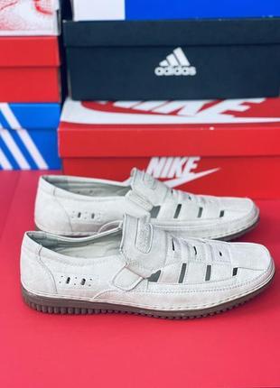 Мужские туфли на липучке, повседневные классические летние туфли на плоской подошве, лоферы в британском стиле