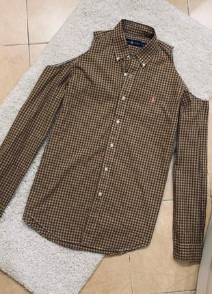 Рубашка оверсайз с вырезами на плечах ralph lauren