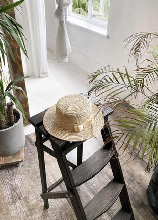Новая женская соломенная шляпа стильная летняя