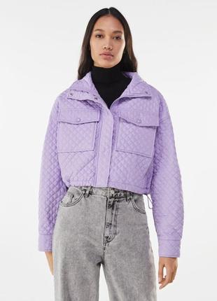 Еуртка внтровка, стеганая куртка демисезонная, куртка легкая на затяжке