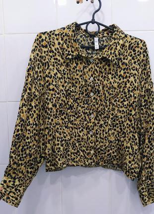 Шикарная блуза рубашка в анималистичный принт от zara trf