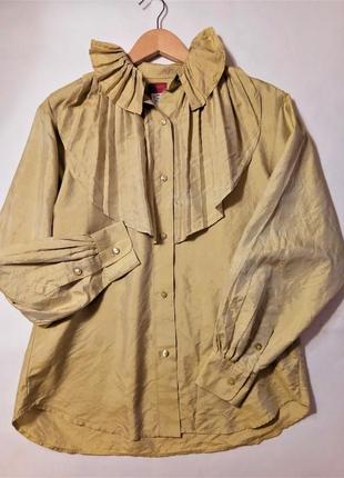 ✅винтажная шелковая рубашка kenzo paris, 100% шелк, винтаж 80-х
