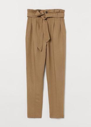 Укороченные брюки из воздушной ткани из смеси льна и вискозы h&m 1+1=3 на всё 🎁