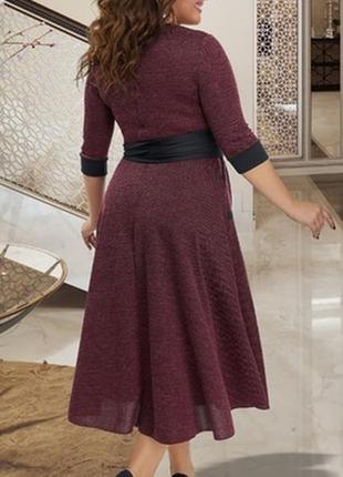 Тёплое платье (м-0385)2 фото
