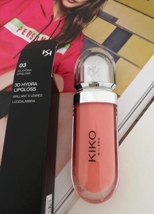 Блеск для губ kiko milano 3d hydra lipgloss 037 фото
