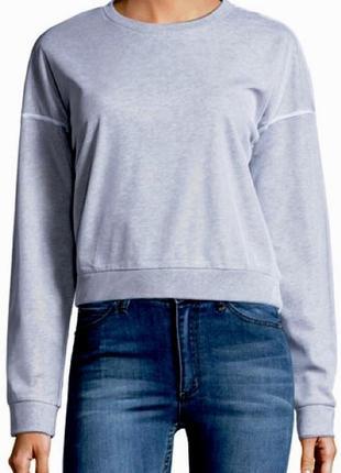Красивенный серый свитшот с белым шифоновым верхом