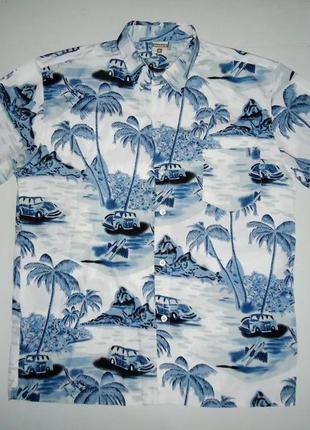 Рубашка  гавайская green-g гавайка (xl)