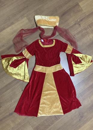 Средневековая принцесса джульетта 3-4 года костюм карнавальный