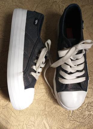 Rocket dog оригинал. кеды на платформе. джинсовые кеды. темно-серый с серебром, белый.1 фото