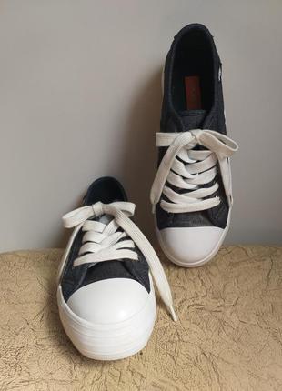 Rocket dog оригинал. кеды на платформе. джинсовые кеды. темно-серый с серебром, белый.2 фото