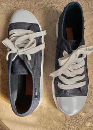 Rocket dog оригинал. кеды на платформе. джинсовые кеды. темно-серый с серебром, белый.3 фото