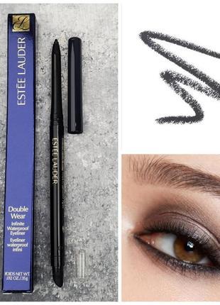 Водостойкий карандаш для глаз estee lauder double wear infinite waterproof eyeliner 01 kohl noir