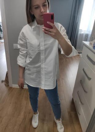 Белая рубашка mango размер xs