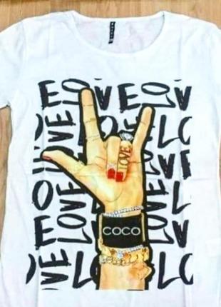 Стильная женская футболка   🔥производство турция‼️100% cotton