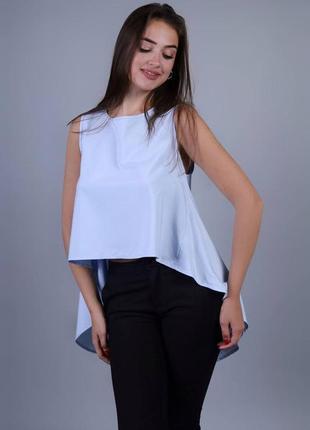 Блуза голуба, подовжена