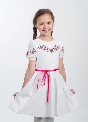 Нежное белое вышитое платье для девочки ніжна вишита сукня для дівчинки
