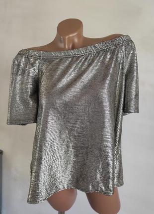 Блуза со спущенными плечиками. батал