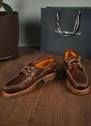 Timberland мужские коричневые кожаные топсайдеры размер 42
