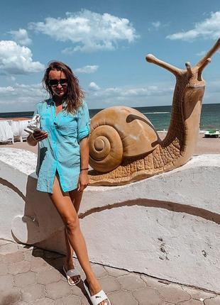 Хлопок 95% пляжная туника рубашка в норме и батале