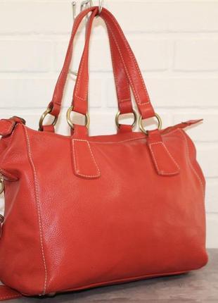 Большая кожаная сумка boden. 100% натуральная кожа