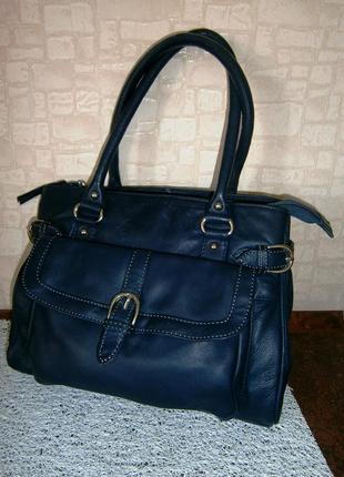 Красивая, повседневная сумка из натуральной кожи clarks
