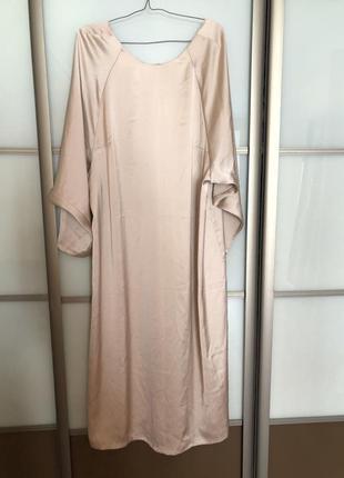 Платья комбинация батал большой розмер в бельевом стиле  атласное  h&m
