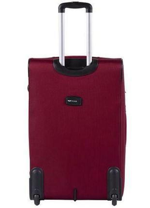 Чемодан дорожный (дорожная сумка) тканевый на 2 колёсах большой 1601 l wings ( бордовый / red )2 фото