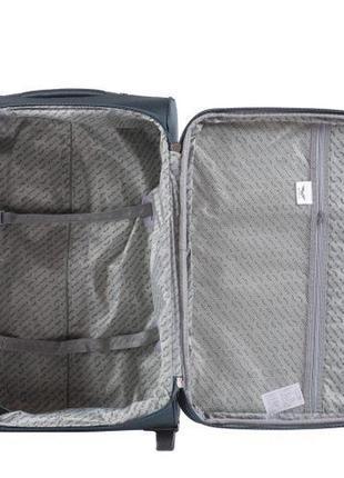 Чемодан дорожный (дорожная сумка) тканевый на 2 колёсах большой 1601 l wings ( бордовый / red )3 фото