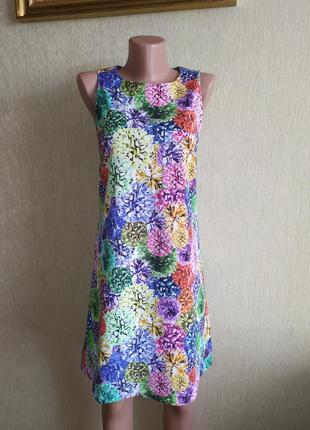 Фирменное красочное летнее платье, р.34,36