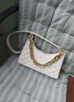 Модная сумка сумочка клатч багет с цепочкой