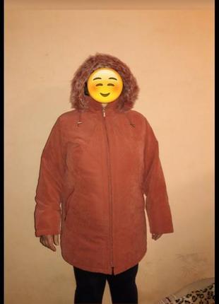 Демисезонная курточка куртка пальто пуховик батал