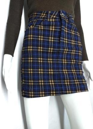 Идеальная юбка мини к крупную елетку от missguided size 8