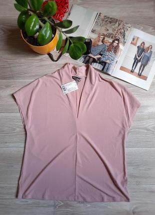 H&m пудровая футболка блуза р м-л-хл сток