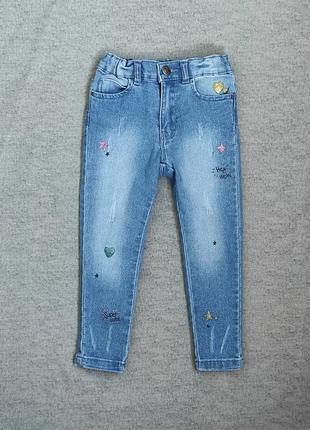 Модные джинсы, скини на 2-3 года