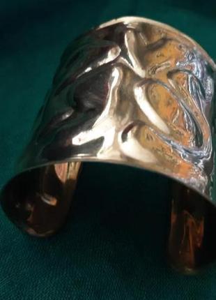 Браслет винтажный металлический массивный в этно бохо стиле