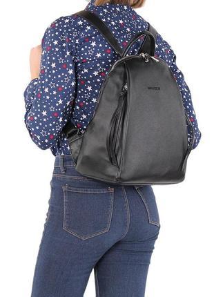 Рюкзак черный david jones см5848т 5848